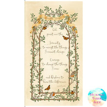 Serenity Prayer Cotton Fabric Panel