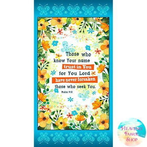 Trust In You Cotton Fabric Panel
