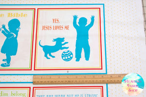Jesus Loves Me II Soft Book Panel by Sharyn Sowell for Henry Glass Cotton Fabric
