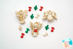 Choir of Angels Christmas Buttons and Charms