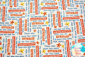 Trust In You Psalms White Cotton Fabric