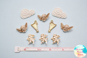 Angelic Cherub Buttons and Charms Set