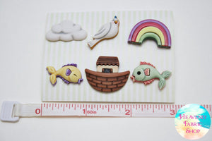 Noah's Journey Ark Button Set
