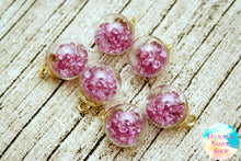 Purple Amethyst Bubble Ball Glass Bead Charms