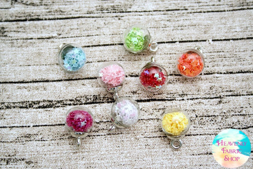 Mini Bubble Ball Candy Rainbow Glass Bead Charms