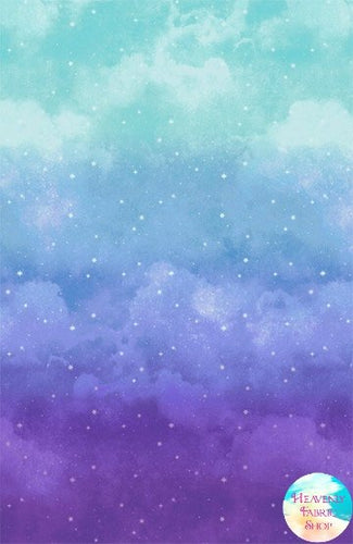 Joy To The World Ombre Cloud Cotton Fabric Panel