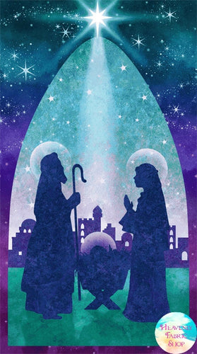 Joy To The World Nativity Cotton Fabric Panel