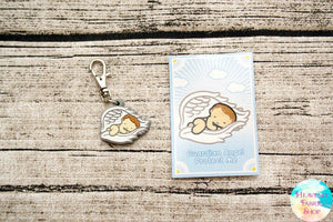 Guardian Angel Wings Baby Rubber Charm