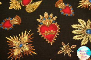 Sacred Heart Cotton Fabric