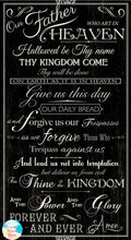 Lord's Prayer Our Father Cotton Fabric Panel
