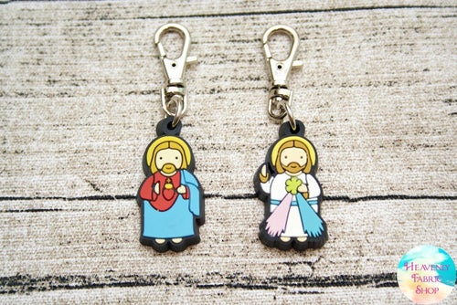 Divine Mercy or Sacred Heart of Jesus Devotional Rubber Charms