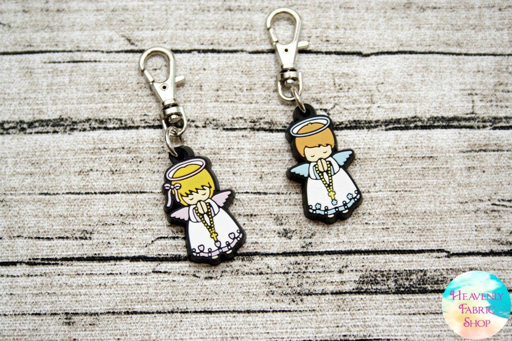 Guardian Angel Boy or Girl Rubber Charms