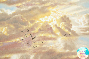 Noah's Ark/Come Unto Me Coordinate Sunlit Sky Cotton Fabric