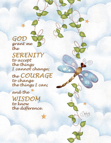Serenity Prayer Microfiber Cleaning Cloth