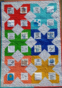 Let's Fight Together Children Fighting Cancer Fabric Panel + Free Comfort Quilt Pattern