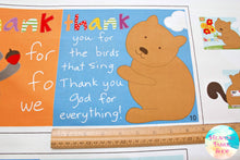 Huggable and Loveable Thank You God Soft Book Cotton Fabric Panel