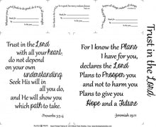 Trust In The Lord Quilt Pattern & Scripture Verse Fabric Panel Kit