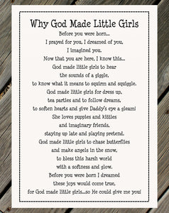 Why God Made Little Girls Fabric Panel + Quilt Pattern Kit