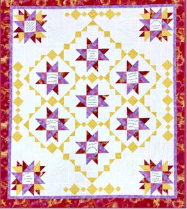 Wishing Stars Quilt Pattern & Comfort of Psalms VI Fabric Panel Kit