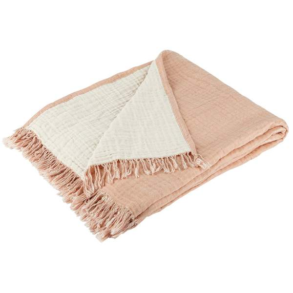 Organic Cotton Throw Tan