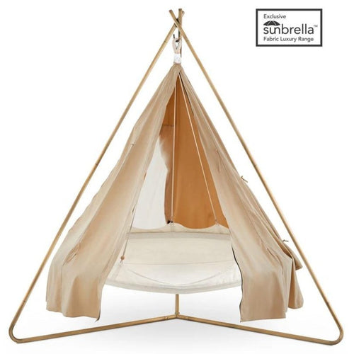 Deluxe 'Poolside' TiiPii Bed+Stand+Poncho (Medium)