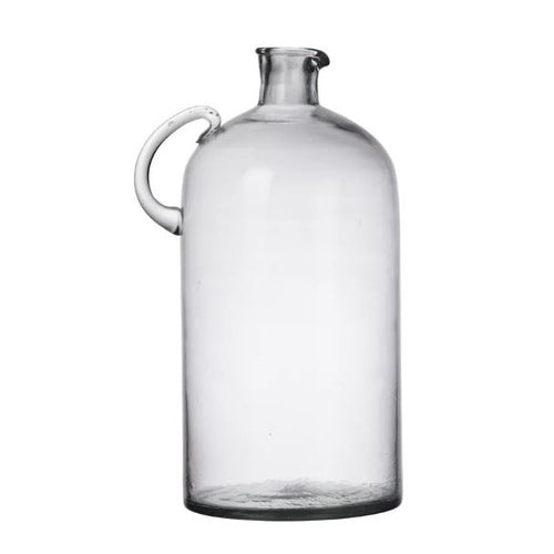 Oversize Demijohn Style Glass Bottle With Handle