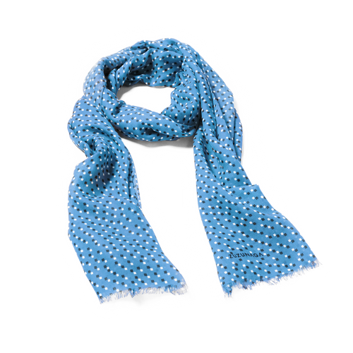 Bitmap Long Life Blue Scarf