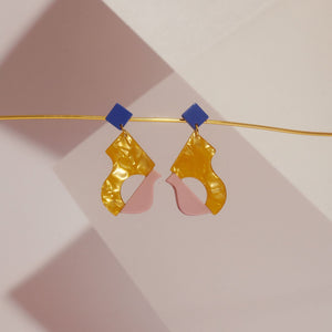 Abya Doré Acetate Earrings