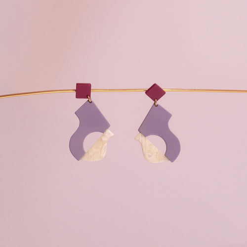 Abya Lilas Acetate Earrings