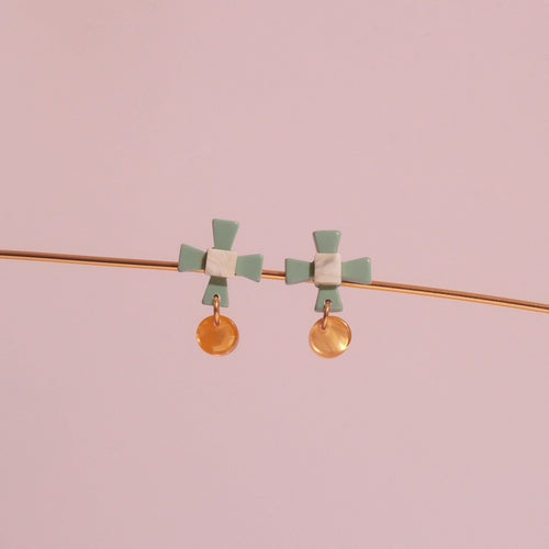 Aram Vert Acetate Earrings