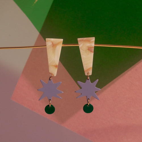 Baye Lilas Acetate Earrings