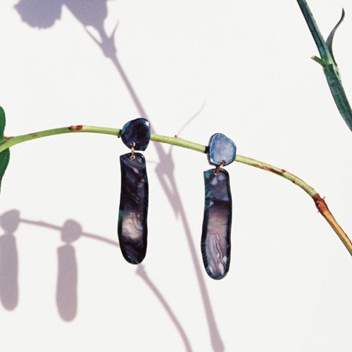 Flos Acetate Earrings