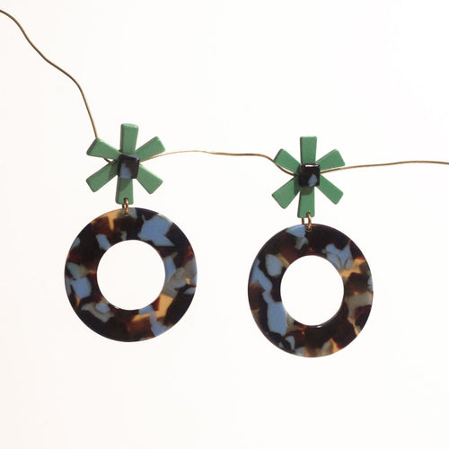 Note Terrazo Acetate Earrings