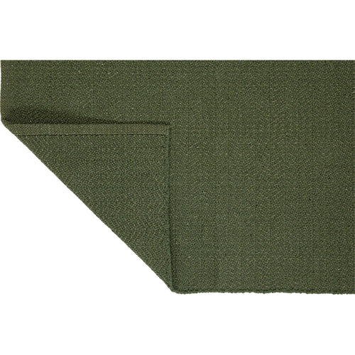 Herringbone Recycled Cotton Olive Green Rug