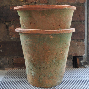 Terracotta Medium Flower Pot With Moss Effect
