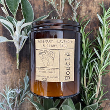 Load image into Gallery viewer, 100% Natural Soy Wax  Scented Candle - Rosemary, Lavender & Clary Sage 180 ml