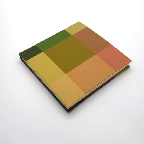 Individuate Pixel Square Notebook - Green Tones