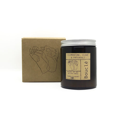 Clementine, Clove & Patchouli Soy Wax Candle (180 ml)