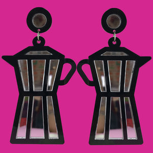 """Espresso Yourself"" Perspex Earrings"