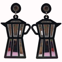 "Load image into Gallery viewer, ""Espresso Yourself"" Perspex Earrings"