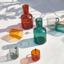 Load image into Gallery viewer, Lasi Colored Borosilicate Glass Carafe And Cup - 4 Colors