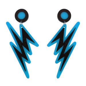 """Shazam"" Blue Strike Earrings"