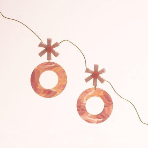 Note Caramelo Acetate Earrings