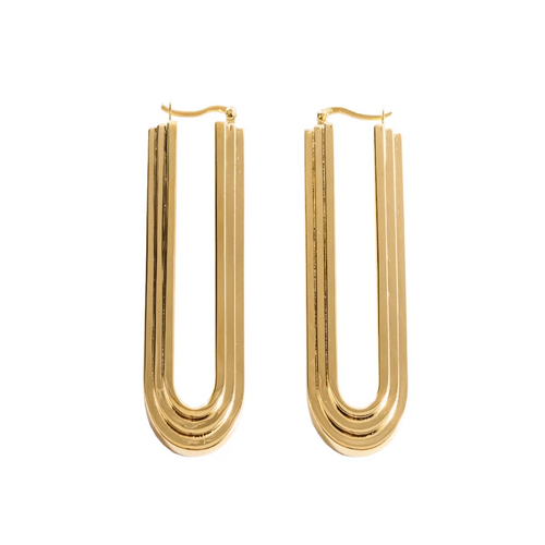 ARCO Gold Arched Earrings