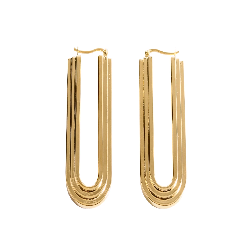 ARCO Arched Earrings Gold