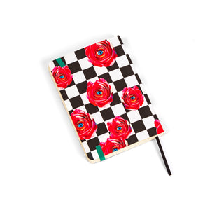 "A6 Notebook ""Roses On Chess Pad"" by TOILETPAPER"