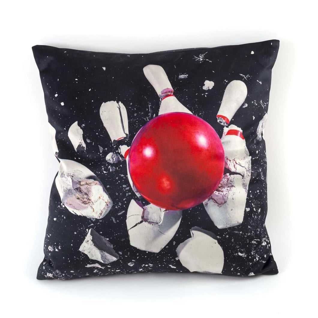 Bowling Cushion Cover by TOILETPAPER
