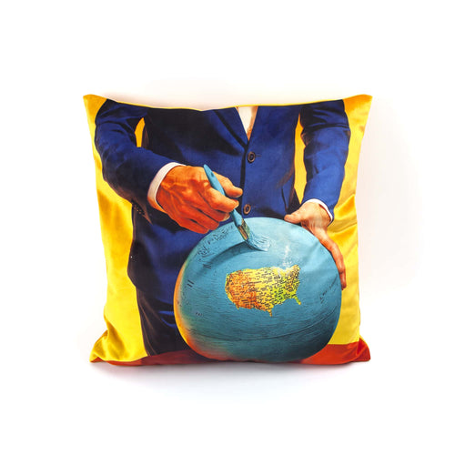 Globe Toiletpaper Cushion Cover