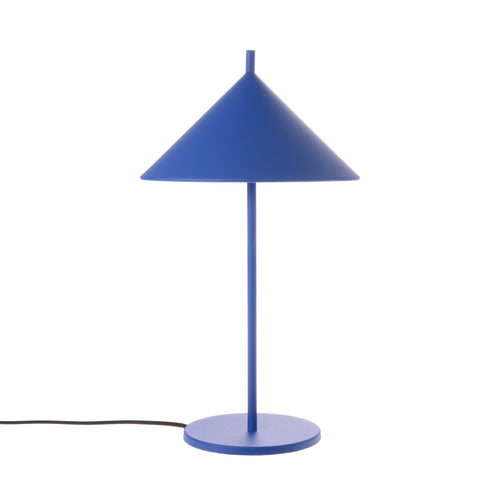 Metal Triangle Table Lamp - Matt Cobalt