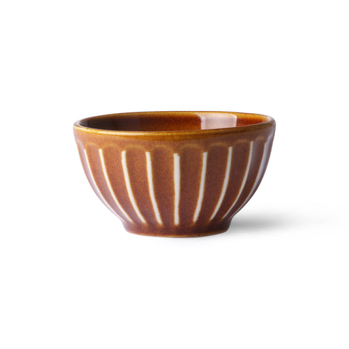Striped Ceramic Small Bowl